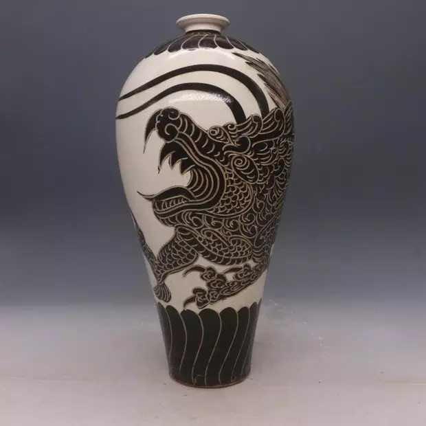 Chinese Cizhou  Kiln  Porcelain  Vase - 6