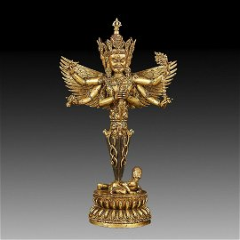 Chinese 18th C. Tibetan Bronze & Copper Phurba