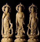 THREE CHINESE  CHENXIANG BUDDHAS