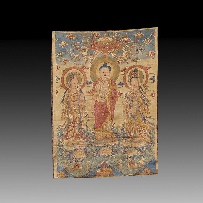 Embroidered Silk Tibetan Thangka