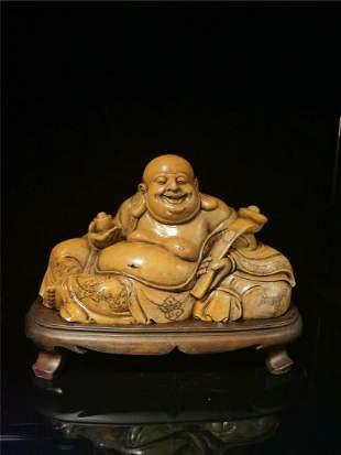Chinese Shoushan Stone Statue -  Buddha
