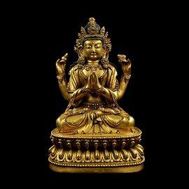 Chinese Ming Dynasty Tibetan Bronze Buddha