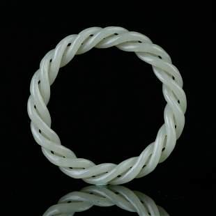 Chinese Hetian Jade  Bracelet (Have a certificate)