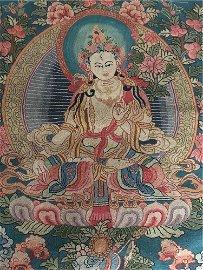 Chinese Dazi Style Embroideries Thangka