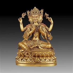 Chinese  Ming Dynasty Bronze Buddha Figure