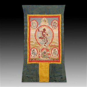Chinese Tibetan Embroidery Thangka