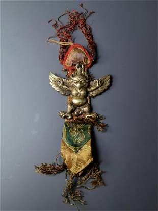 Antique Tibetan Buddhist Exorcism Vajra Garuda