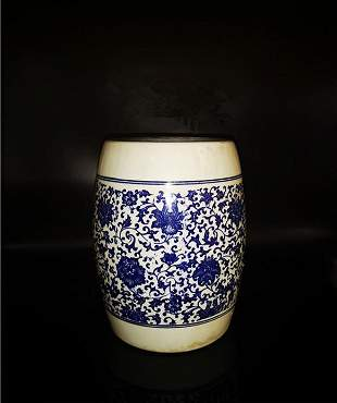 Chinese Blue And White Porcelain Stool