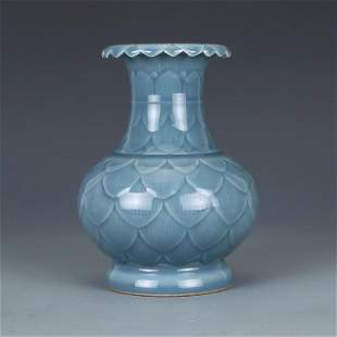 Chinese Blue Porcelain Vase
