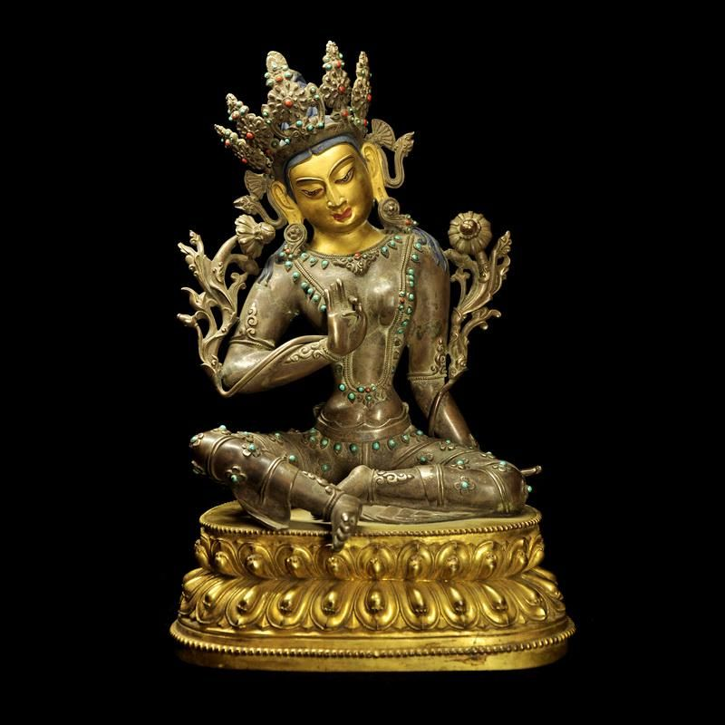 Chinese Silver Maitreya Buddha Statue