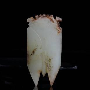 Chinese Han Dynasty Jade Cicada