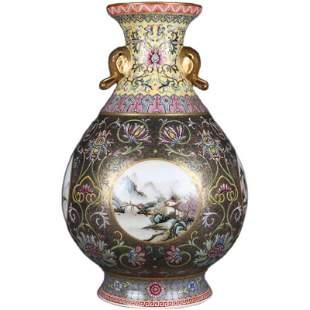 Chinese Colored enamel Porcelain Vase