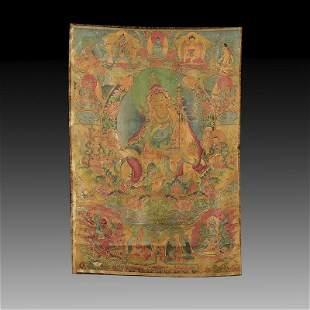 Chinese Embroidered Silk Tibetan Thangka