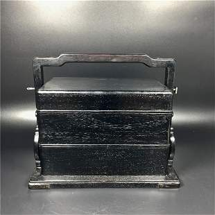 Chinese Three Section Hardwood Wood Lunch Box