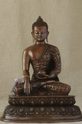 Chinese Bronze Buddha Figure