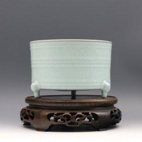A Chinese Antique Celadon Glazed Porcelain Xi