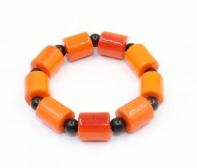 Chinese Coral Bead Bracelet