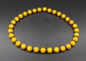 Chinese Amber Buddhist Prayer Beads