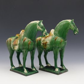 Chinese Large Porcelain Horse Statue