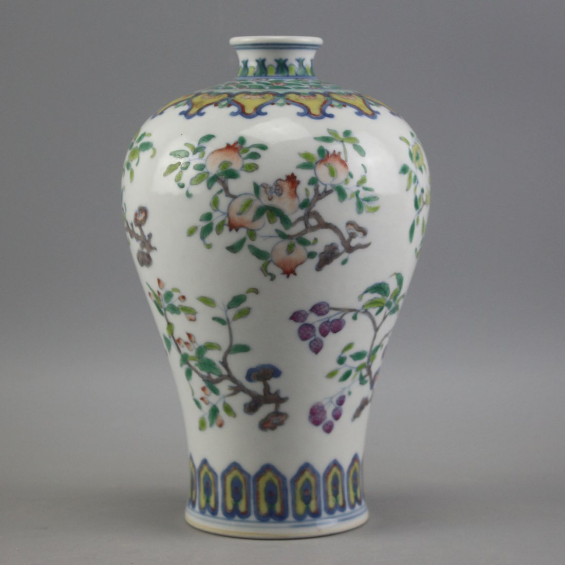 Chinese Doucai Porcelain Vase, Yongzheng Mark.