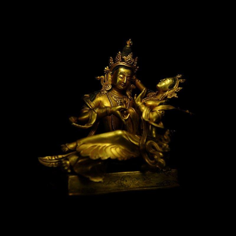 Chinese Antique Gilt Bronze Seated Buddha