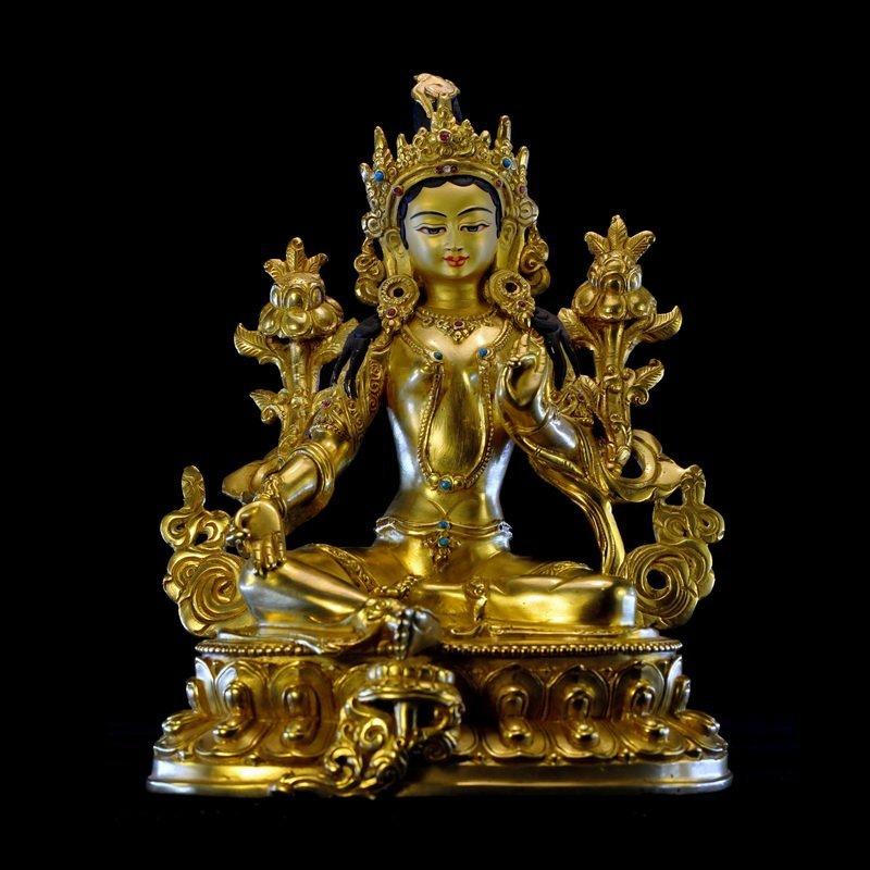 A Chinese Qing dynasty Bronze Buddha