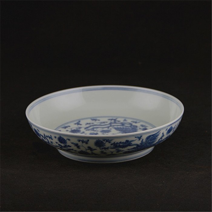 Ming dynasty Chenghua year put lotus flower blue and  w - 2