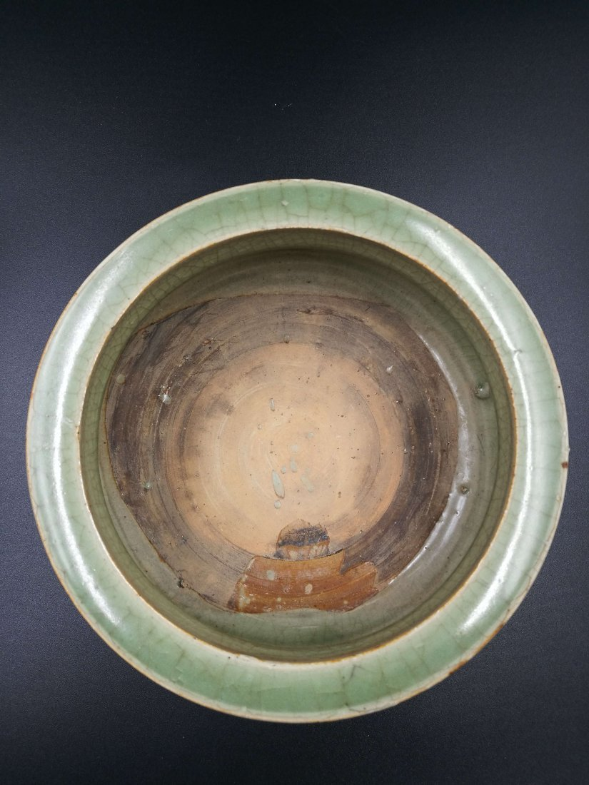 Chinese The song dynasty longquan celadon three legs in - 4
