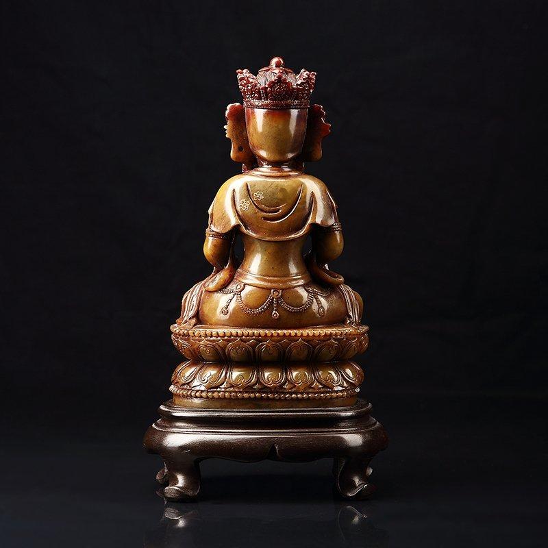 Chinese Antique Guan Yin qing shou stone - 2