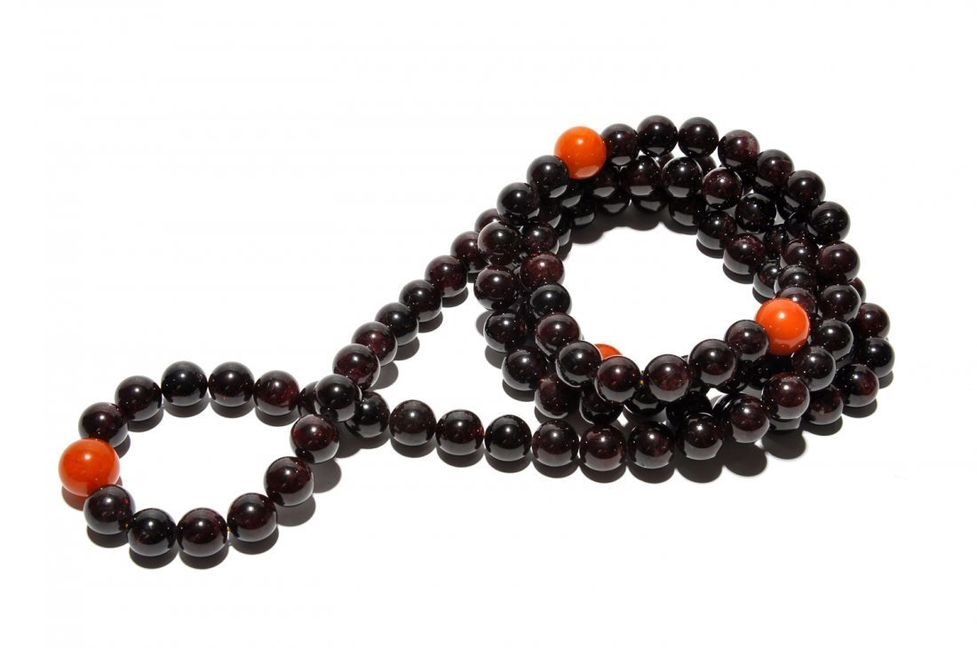 Chinese Garnet Necklace