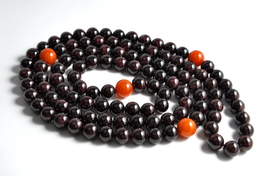 Chinese Garnet Necklace - 2