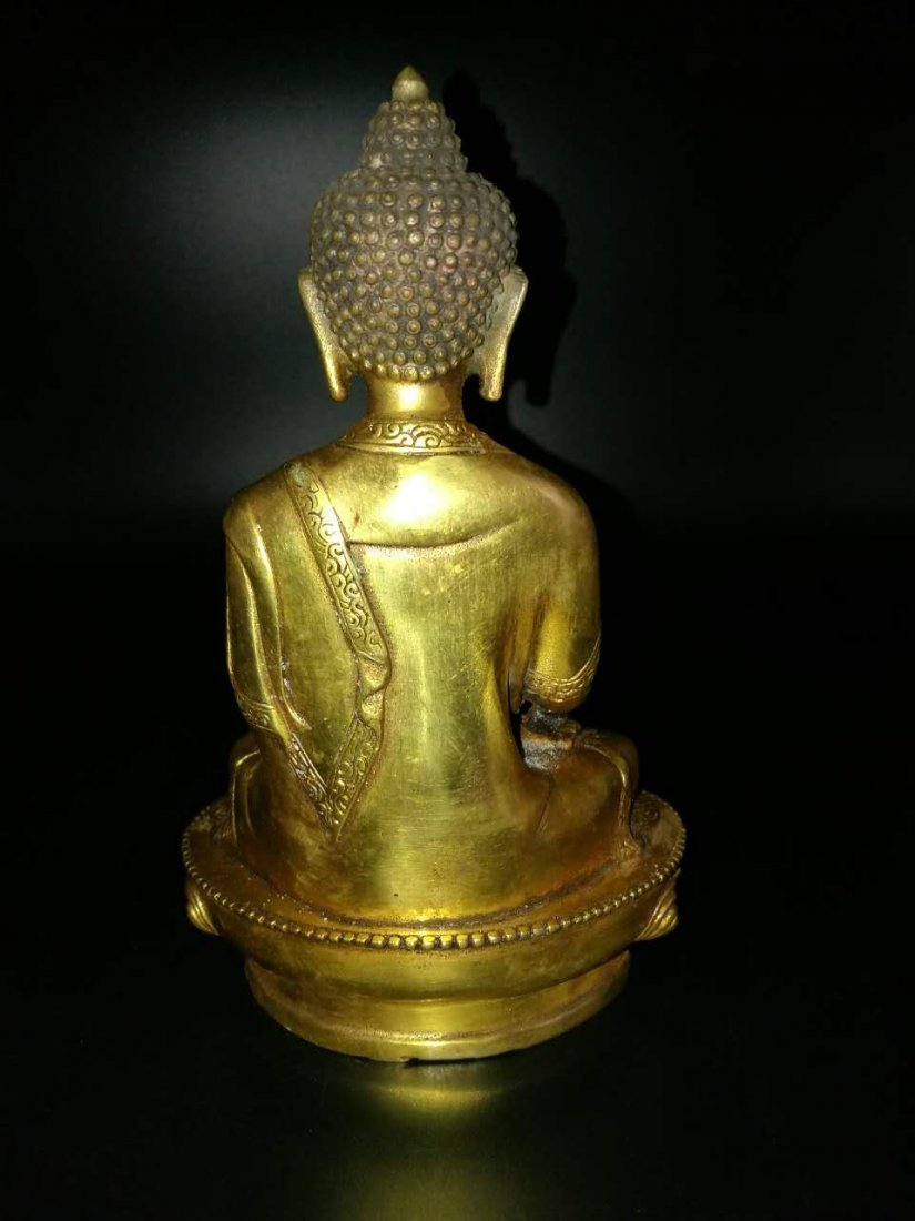 A Chinese Antique Bronze Buddha - 3