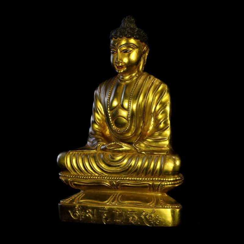 All the gold in the qing dynasty old Buddha Buddha had - 2