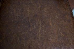 Leather Club Chair & Ottoman