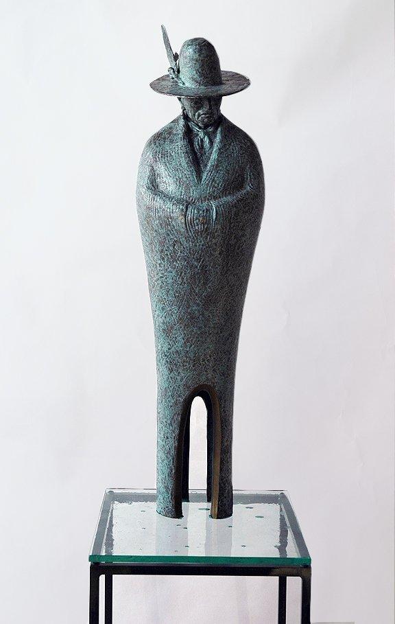 """""""Navajo Man"""" Juan Dell Bronze Sculpture"""