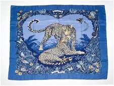 HERMES Hermes foulard de soie jungle love