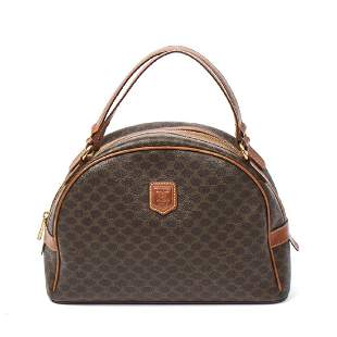 CELINE Vintage Curve Zip Handbag