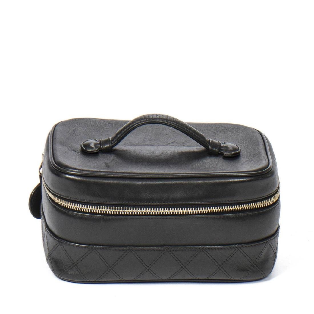 CHANEL Rectangular Cosmetic Case Quilted Base
