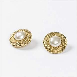 Chanel Earrings with Pearl Earrings