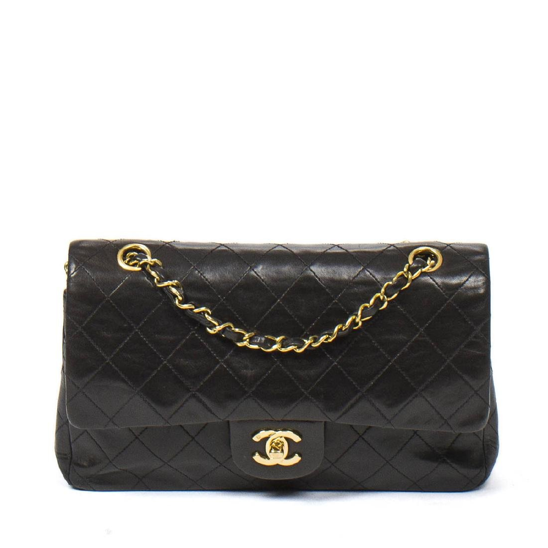 Chanel Classic Double Flap 26 in Black Quilted Leather