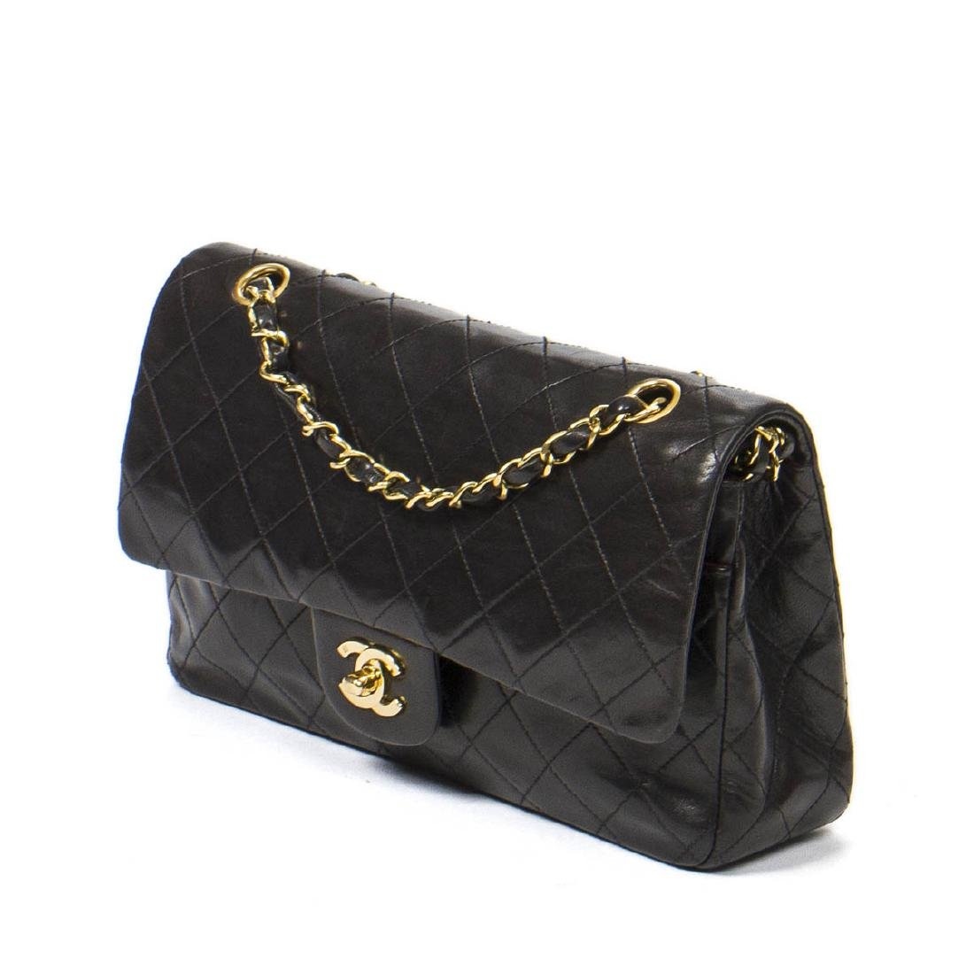 Chanel Classic Double Flap 26 in Black Quilted Leather - 2