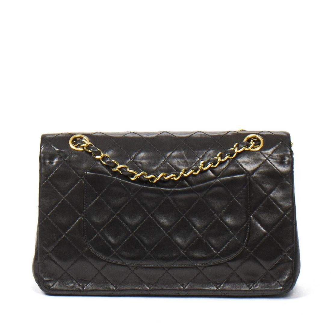 Chanel Classic Double Flap 26 in Black Quilted Leather - 5