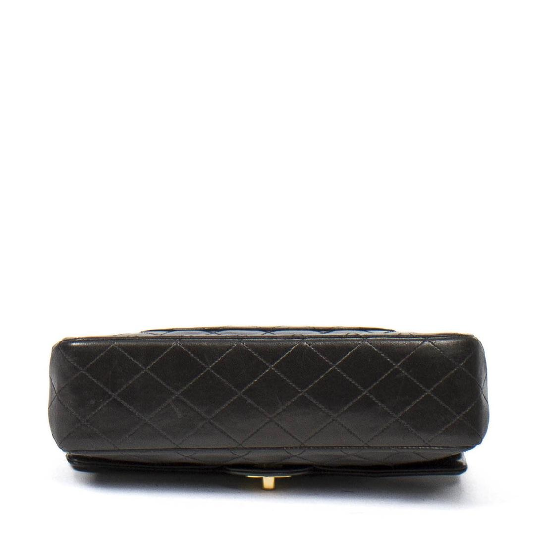 Chanel Classic Double Flap 26 in Black Quilted Leather - 6