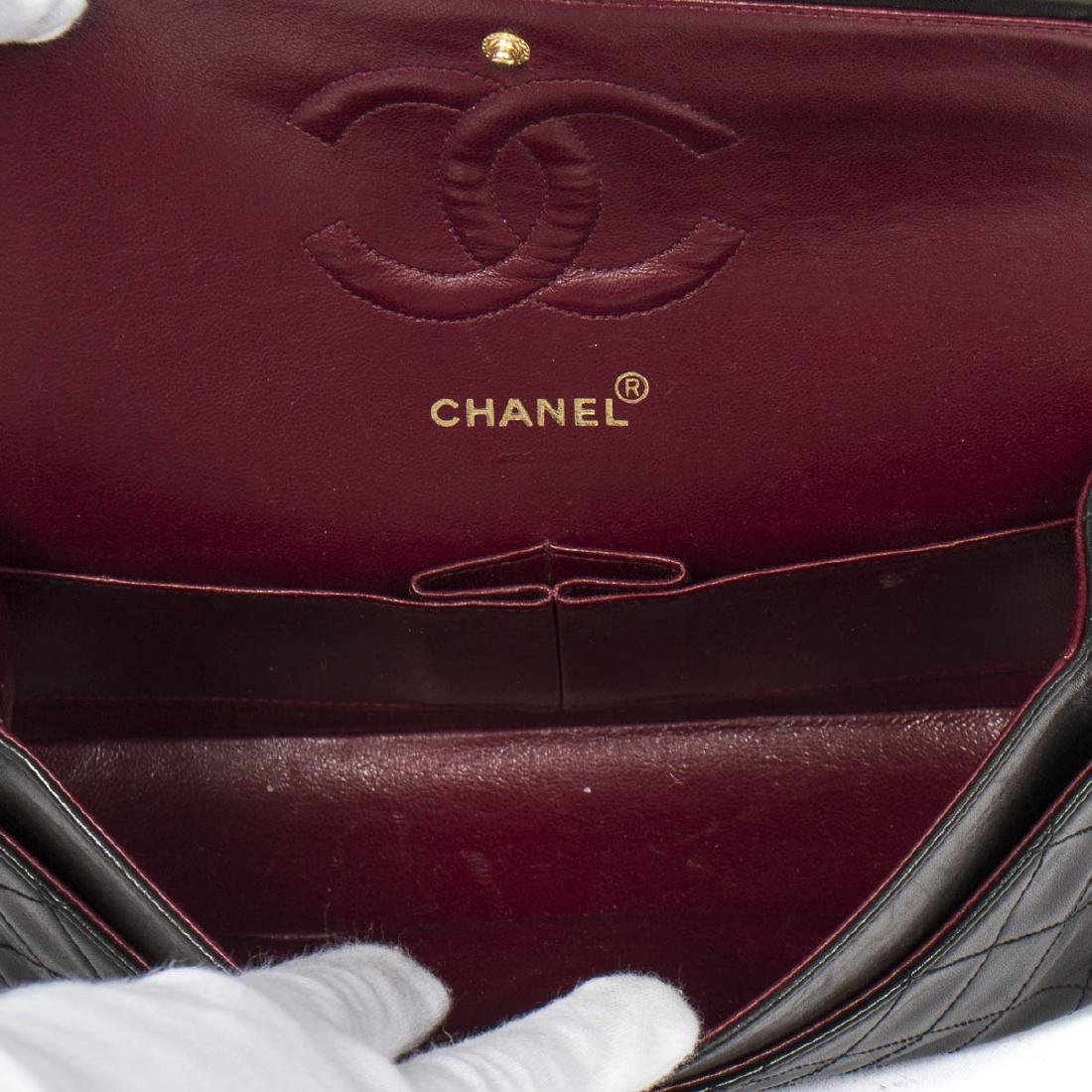Chanel Classic Double Flap 26 in Black Quilted Leather - 7