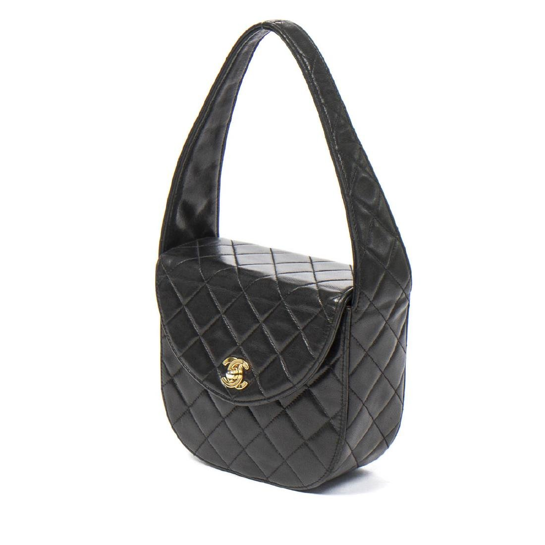 Chanel Make up Hand Bag in Black Quilted Leather - 2