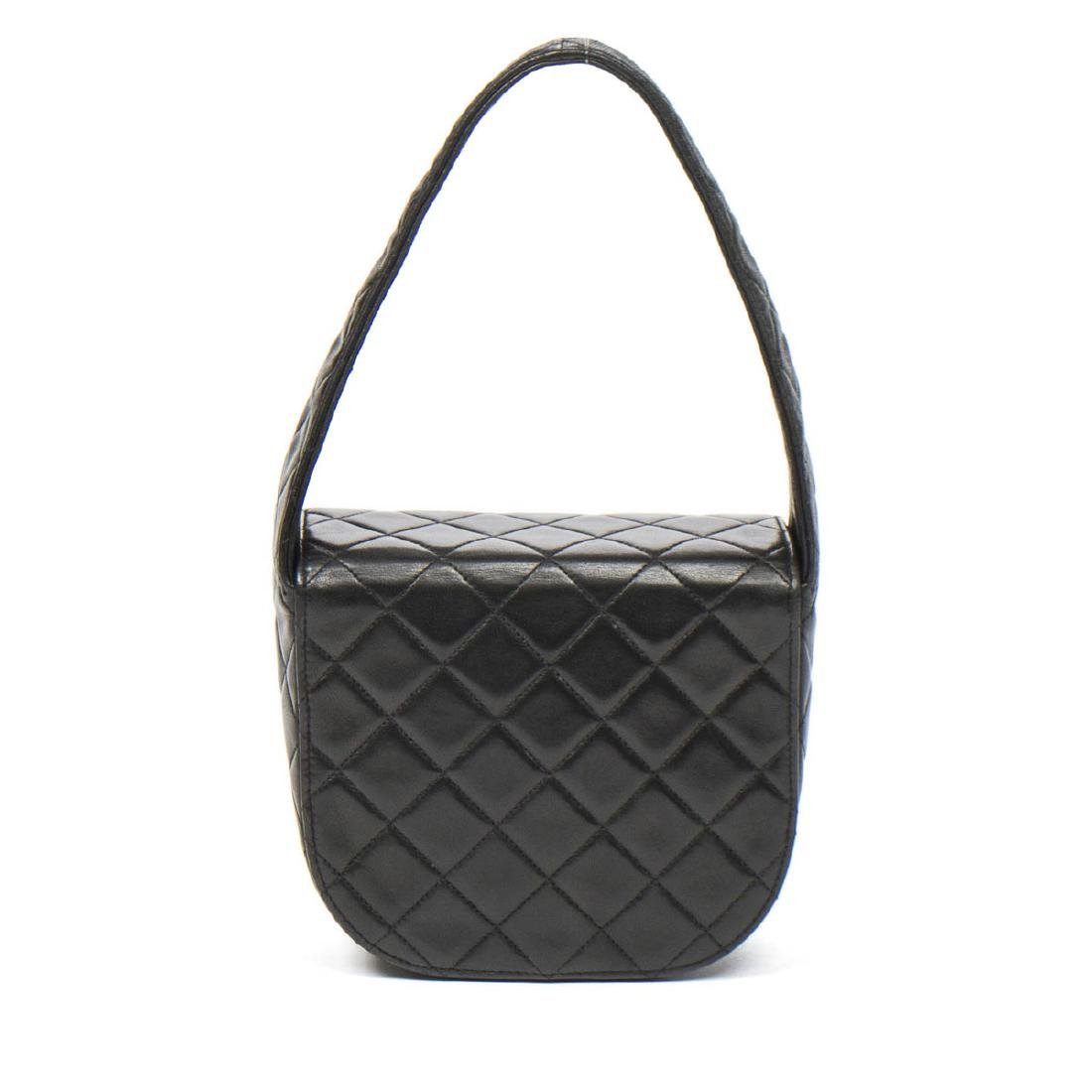 Chanel Make up Hand Bag in Black Quilted Leather - 5