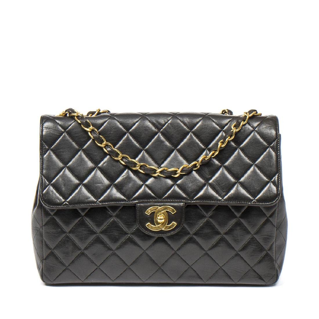 Chanel Maxi Flap in Black Quilted Leather