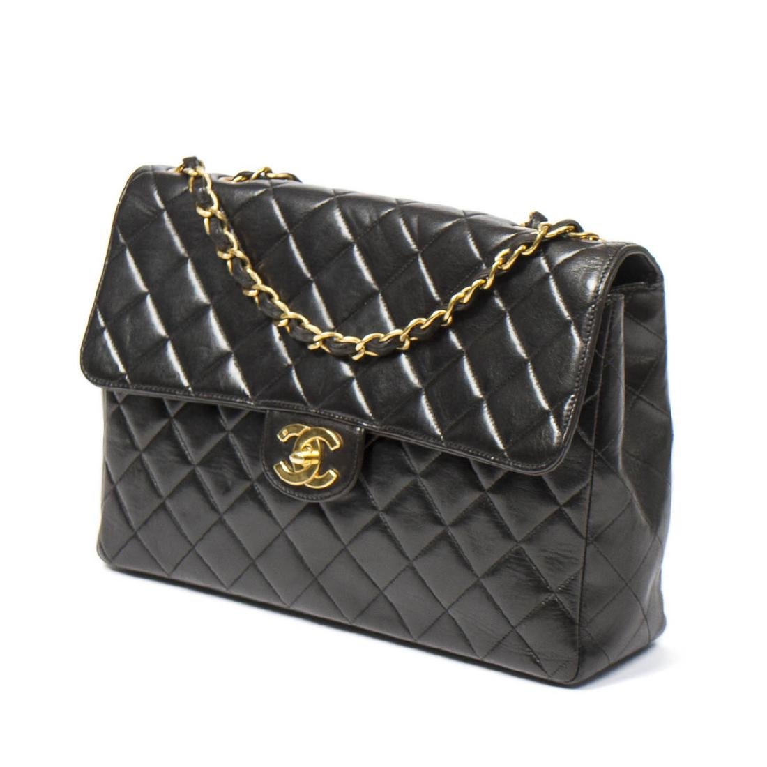 Chanel Maxi Flap in Black Quilted Leather - 2
