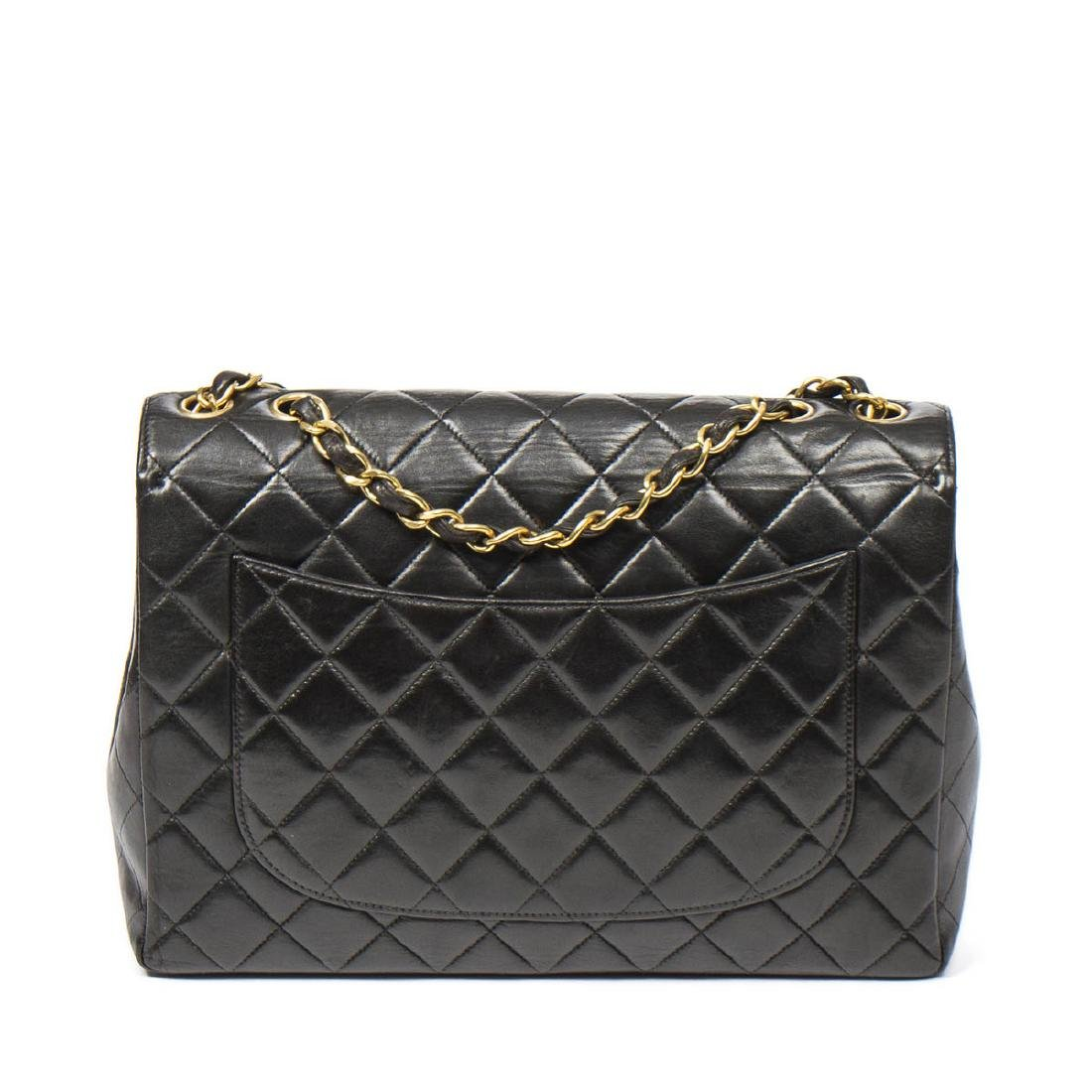 Chanel Maxi Flap in Black Quilted Leather - 5