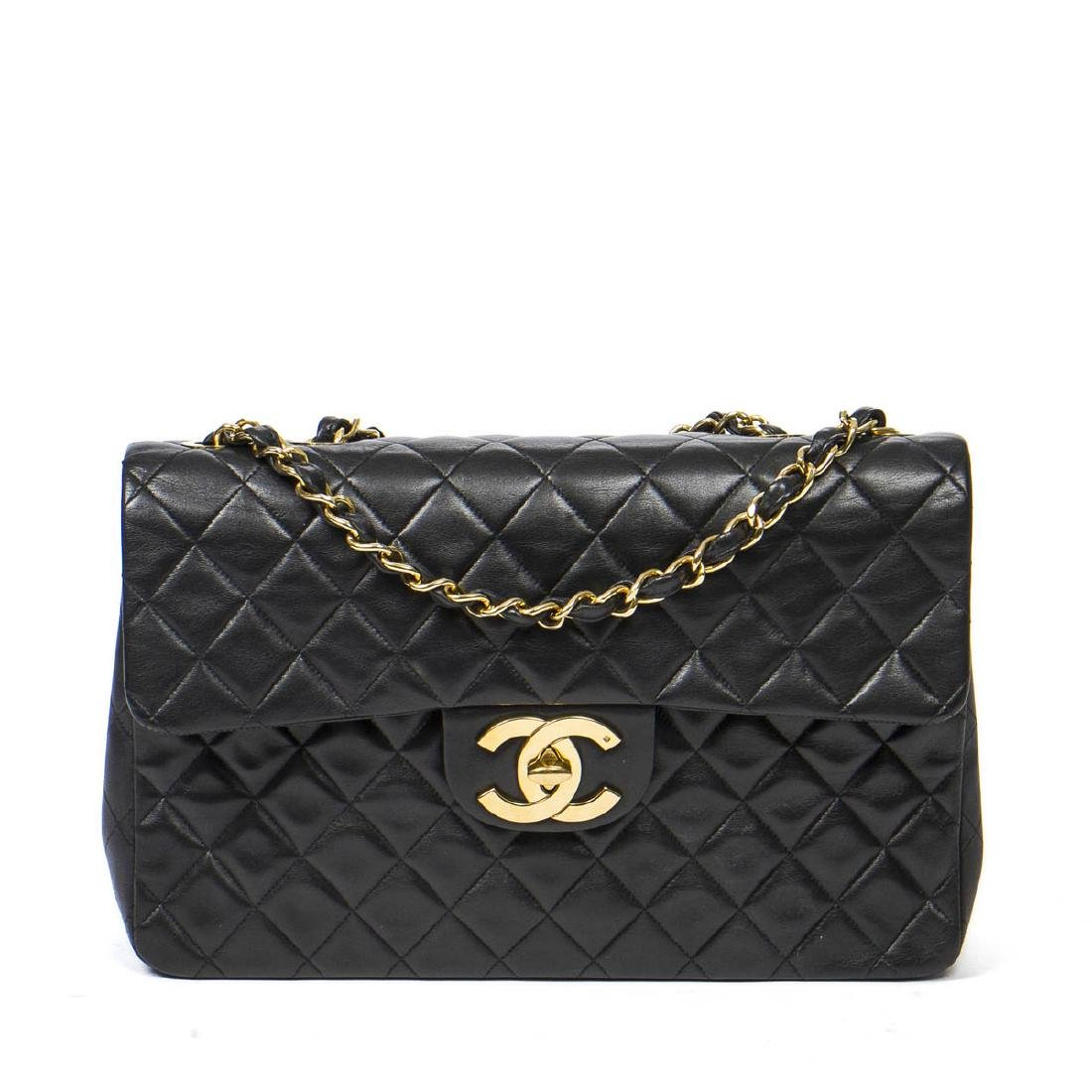 Chanel Maxi Jumbo in Black Quilted Leather